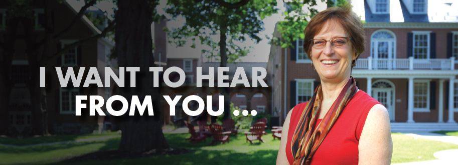 President of Albright College saying I want to hear from you