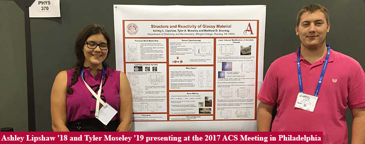 Ashley Lipshaw '18 and Tyler Moseley '19 presenting at 2017 ACS meeting
