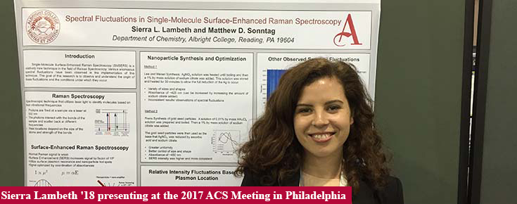 Sierra Lambeth '18 presenting at the 2017 ACS meeting