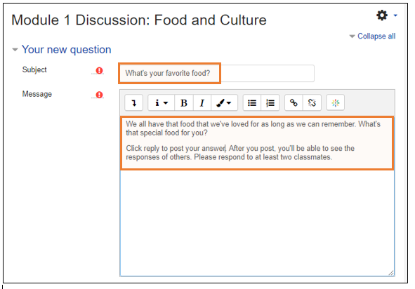 Creating a Discussion Forum That Requires Posting First