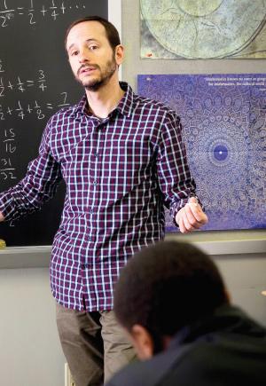 photo of professor teaching class