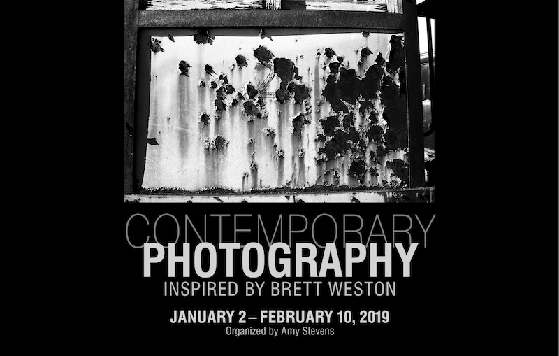 An event poster for contemporary photography inspired by Brett Weston in January 2019