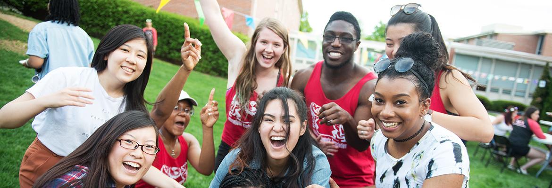 photo of students celebrating diversity