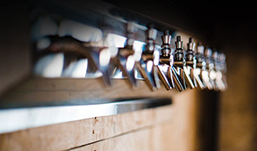 photo of beer taps