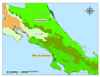 Map of Albright property, Costa Rica