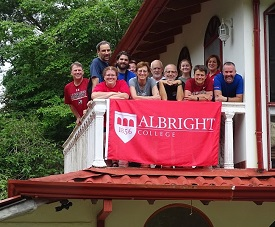 Albrightians on balcony of Casa de Gratitude