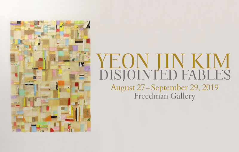 An event poster for Yeon Jim Kim Disjointed Fables in September 2019