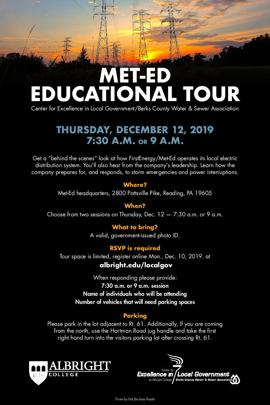 Met-Ed Educational Tour 2019