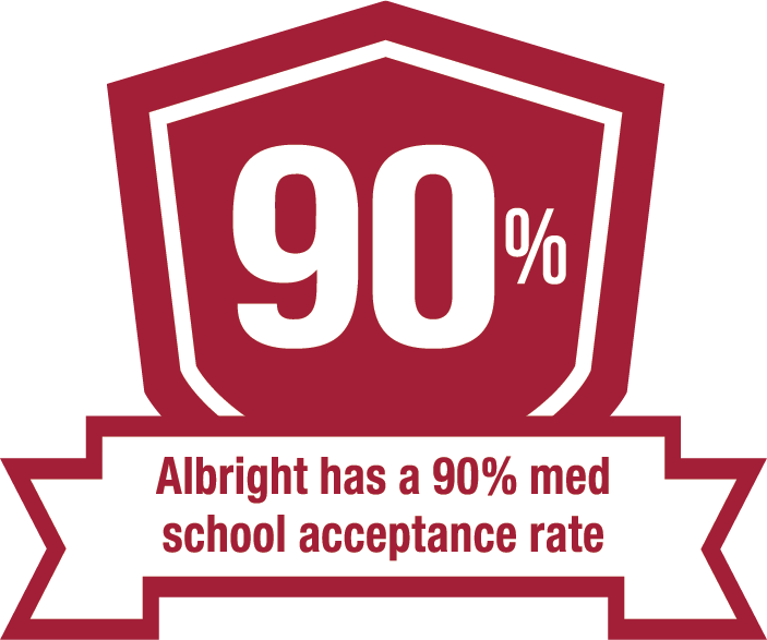 Albright has a 90 percent med school acceptance rate.