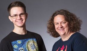 Joseph Holowko '21 and Elizabeth Kiester, Ph.D.