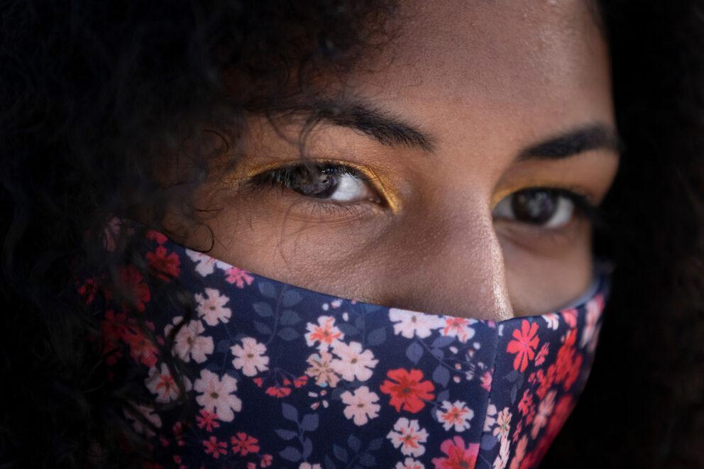 Albright student mask girl