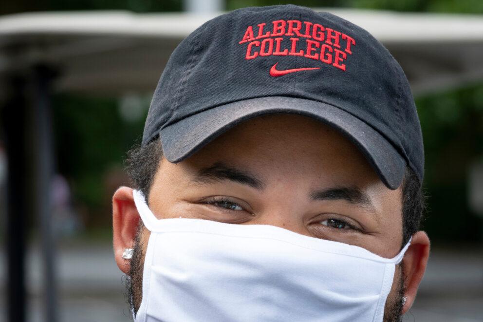 Albright mask student