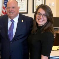 Emily Durell and Gov Hogan