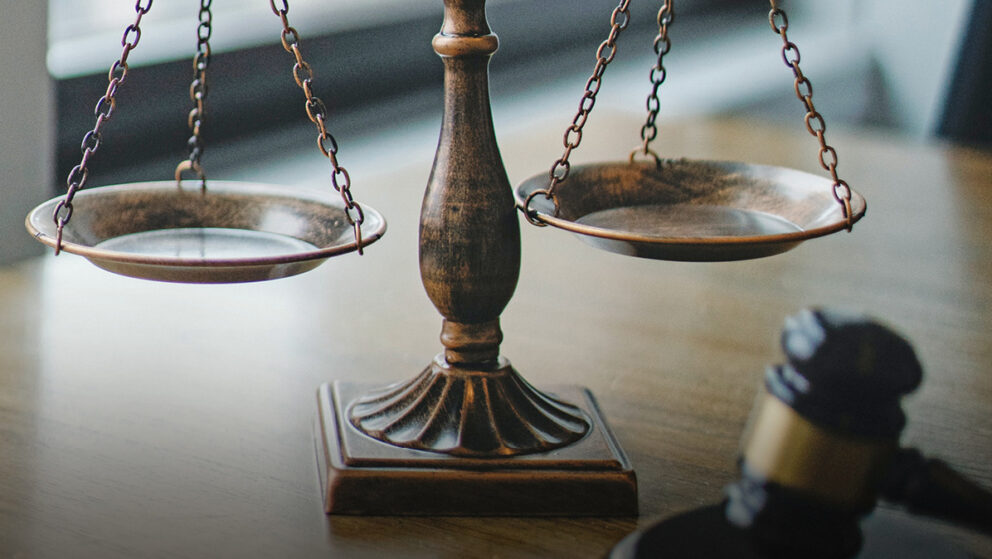 law scales and gavel