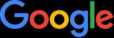Google logo. Blue G, red o, yellow o, blue g, green l, red e.