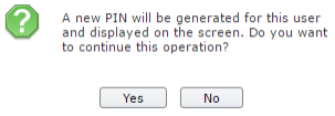 Warning to confirm that user wants to generate new PawPrint PIN