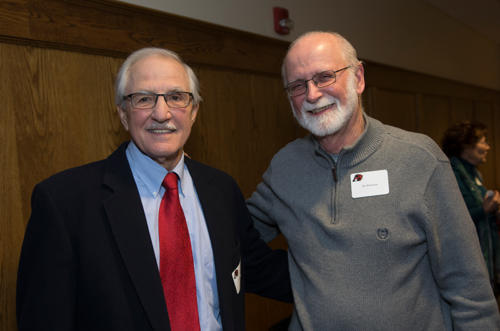 John Scholl smiling with an alumni